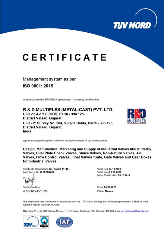 Manufacturer Of Valves Mumbai India R Amp D Multiples